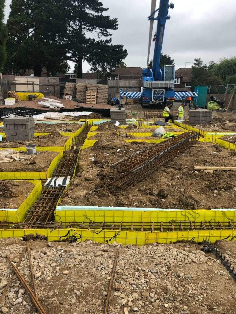 foundations being laid on a domestic site