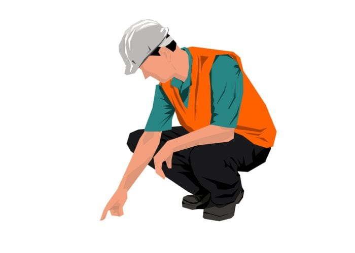 graphic construction worker